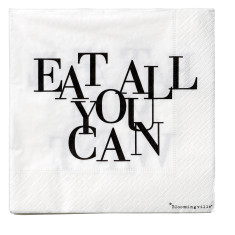Eat all you can paper serviettes