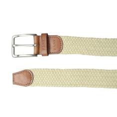 Woven elastic beige men's belt