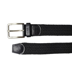 Woven elastic black men's belt