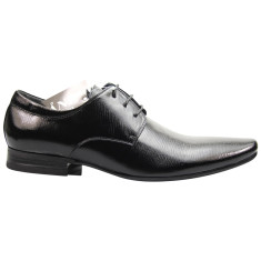 Executive patent black men's smart shoe