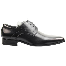 Executive derby black men's smart shoe