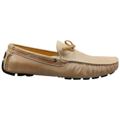 Loafers lace leather butterscotch men's shoe