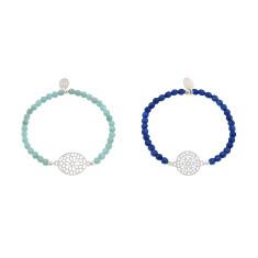 Silver temple bracelet