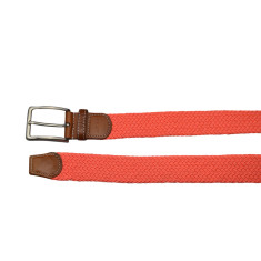 Woven elastic belt in orange