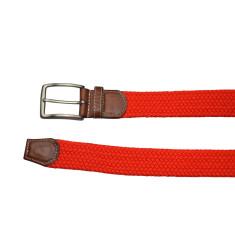 Woven elastic red belt