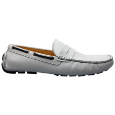 Loafers flap white men's shoe