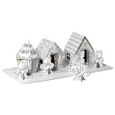 Calafant three little pigs cardboard model