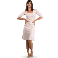Organic pima cotton 3/4 sleeve night dress in dusty rose