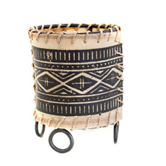 Small tribal candle holder