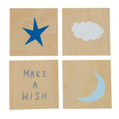 Make a wish screenprints on ply series
