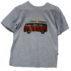 Boys red VW t-shirt in grey marle
