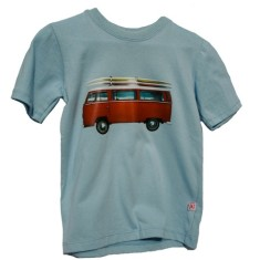 Boys VW in sky t-shirt in red