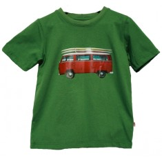 Boys red VW t-shirt in green