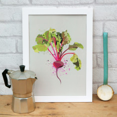 Beetroot vegetable kitchen print