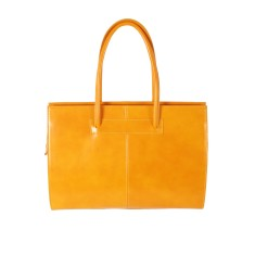 New cartella yellow leather work bag