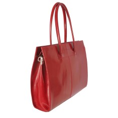New cartella red leather work bag