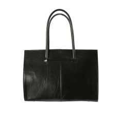 New cartella black leather work bag