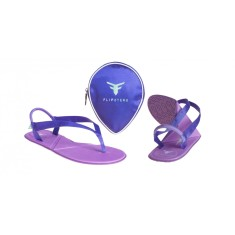 Flipsters foldable flip flop shoes in purple