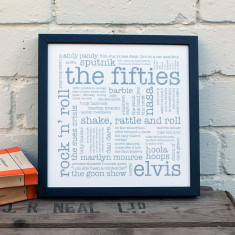 The Fifties typographic print