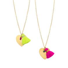 Heart tassel pendant