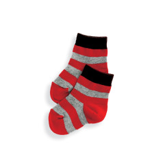 Short socks in stripe