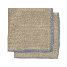 Parker blue linen dishcloth (set of 2)
