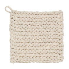 Parker crochet potholder natural