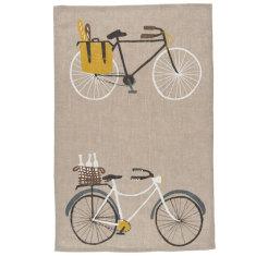Bicicletta linen tea towel