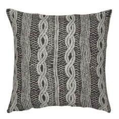 Entwine linen cushion cover