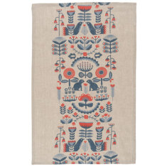 Folklore linen tea towel