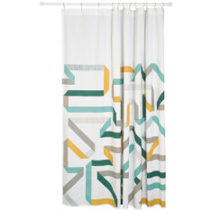 Calliope and carousel shower curtain