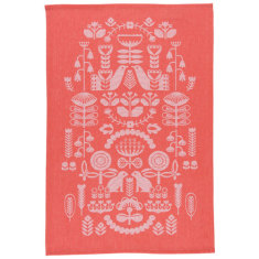 Folklore jacquard tea towel