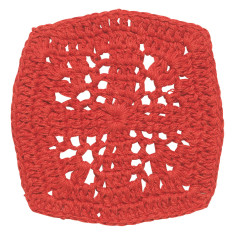 Crochet coasters in grenadine (set 4)
