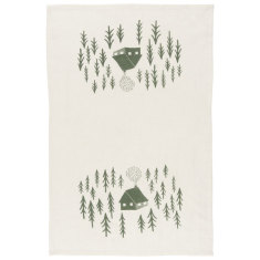 Retreat linen tea towel