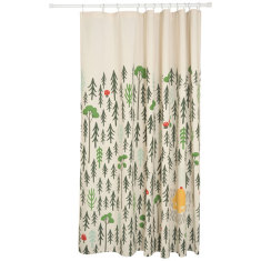Retreat shower curtain