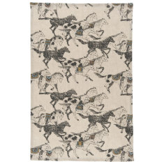 Saddle up linen tea towel