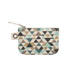 Tessellate zipper pouch