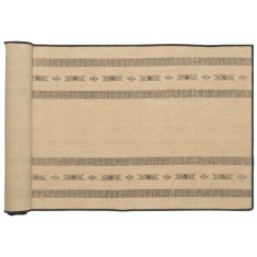 Saddle up stripe cotton linen runner