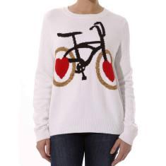 Women's wheel love never tyres knit sweater