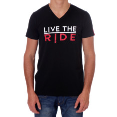 Men's black live the ride t-shirt