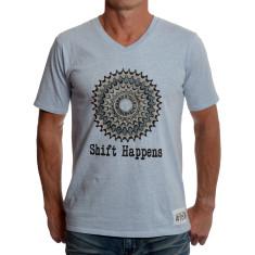 Men's shift happens t-shirt