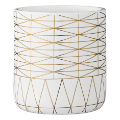 Graphic gold flowerpot
