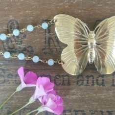 Aphrodite gold large butterfly bracelet