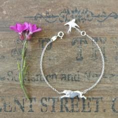 Hetty silver hare bracelet