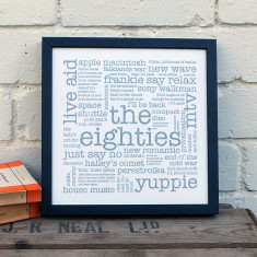 The Eighties typographic print