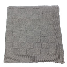 Emporium cotton knitted squares throw (various colours)