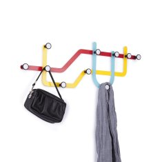 Umbra subway wall-mounted hooks in multicolour