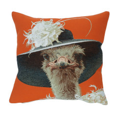 Simone hatted animal cushion cover