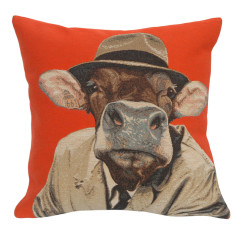 Robert hatted animal cushion cover
