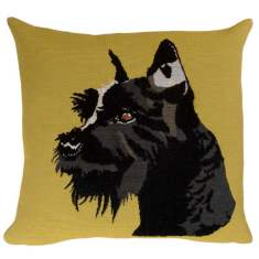 French scotty dog cushion cover